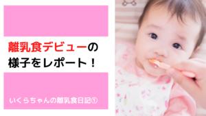 離乳食デビューの様子をレポ!いくらちゃんの離乳食日記①