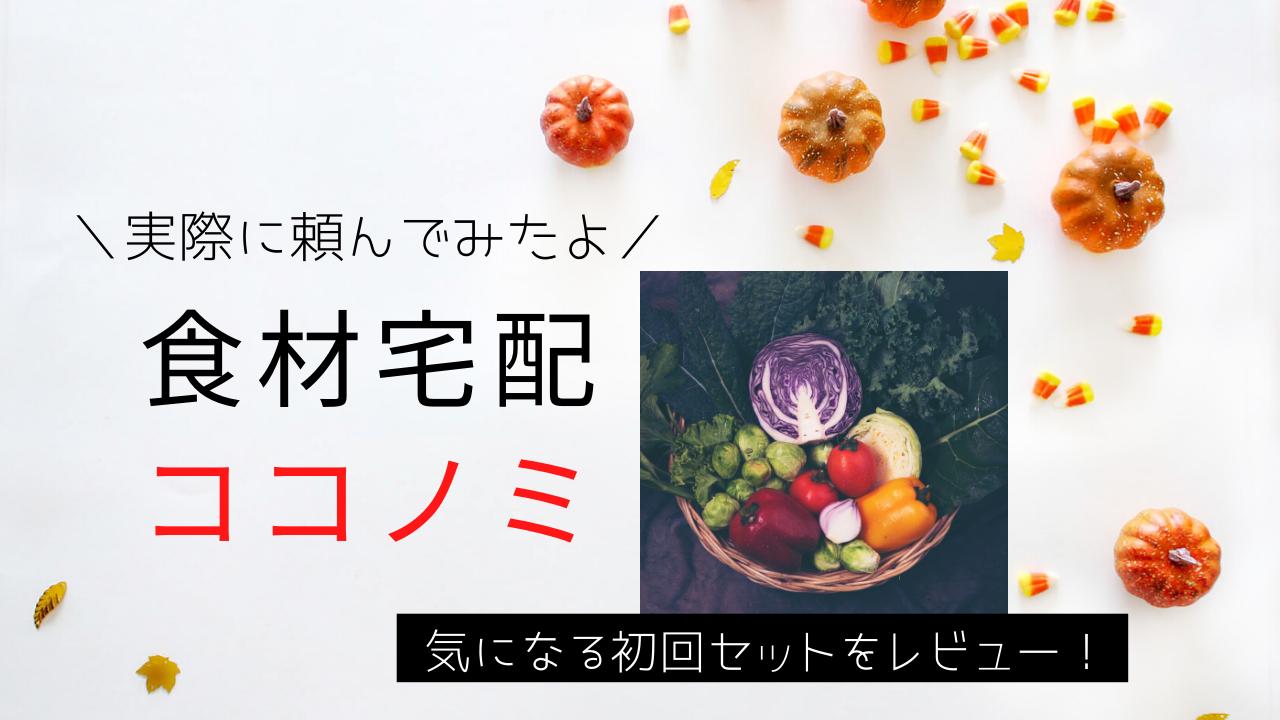 おすすめ食材宅配ココノミの口コミ体験談をブログにまとめたよ