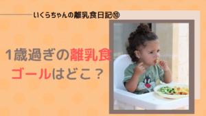 いくらちゃんの離乳食日記⑩1歳になった今、食べているものや量。離乳食のゴールとは?